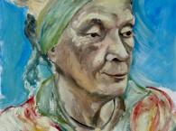 oil portrait woman